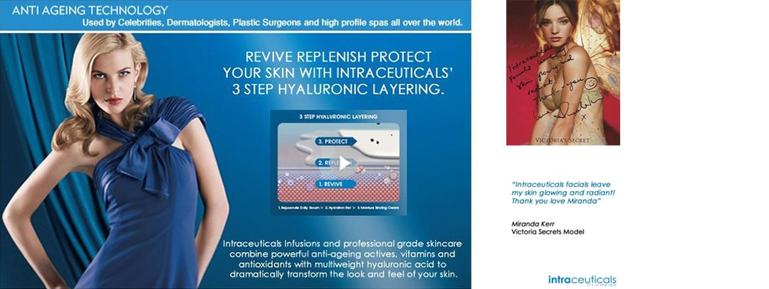 Intraceuticals anti ageing technology for oxygen facials